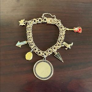 Jewelry - Vintage Gold Charm bracelet and charms